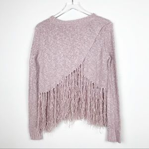 FATE by LFD Fringed Knit Sweater
